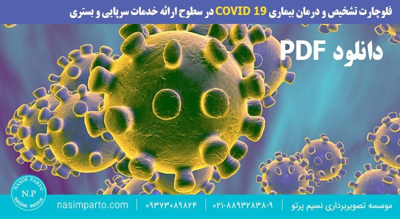 فلوچارت تشخیص و درمان بیماری COVID 19 در سطوح ارائه خدمات سرپایی و بستری
